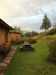 outdoor dining, accommodation, shrine room/ meditation hall